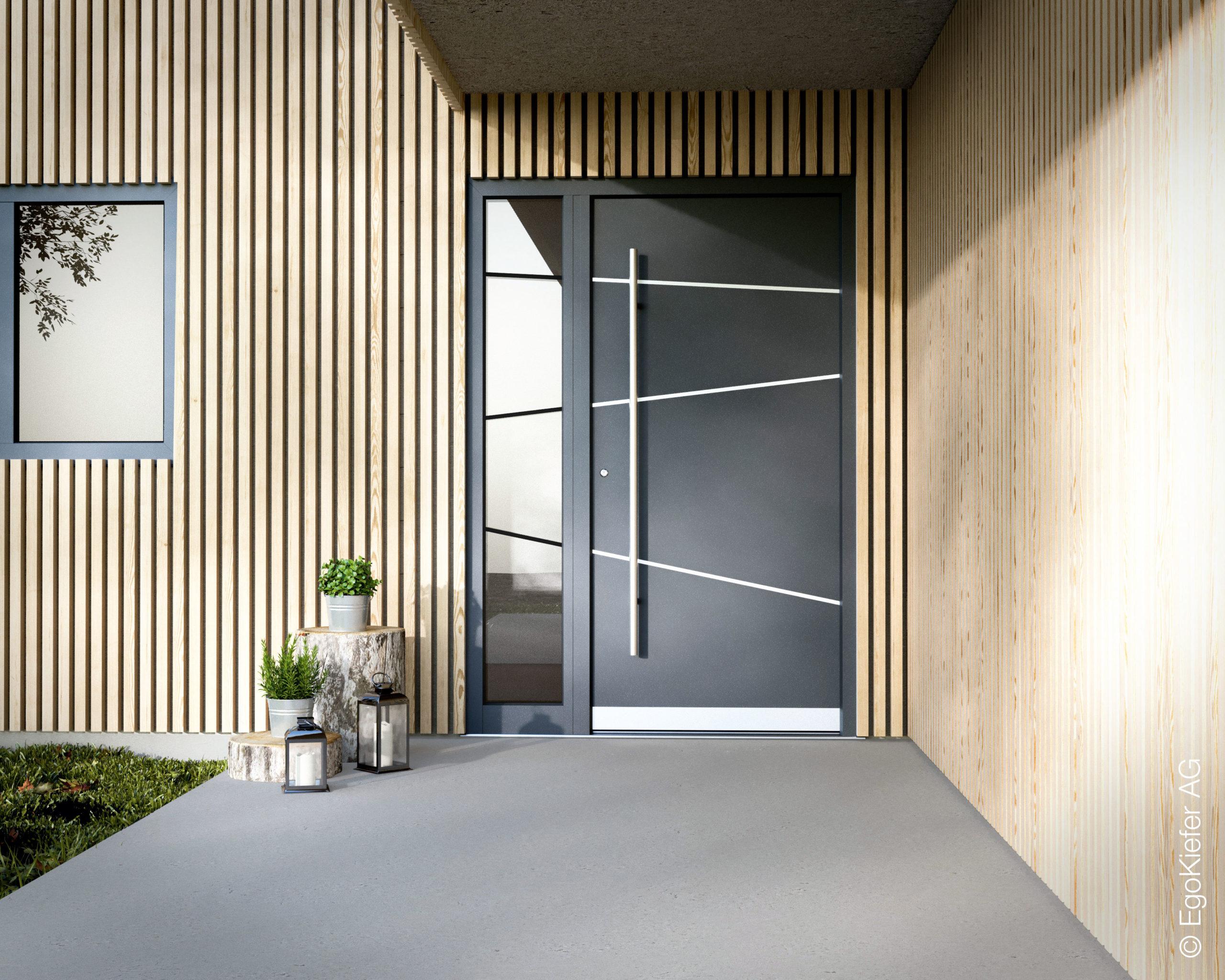 Haustür Holz Kunststoff Alu Metall EgoKiefer Rudolf Öhri Schreinerei Montage AG Liechtenstein