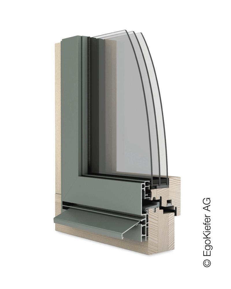 Holz/Aluminium Fenster EgoKiefer AG EgoAllstar