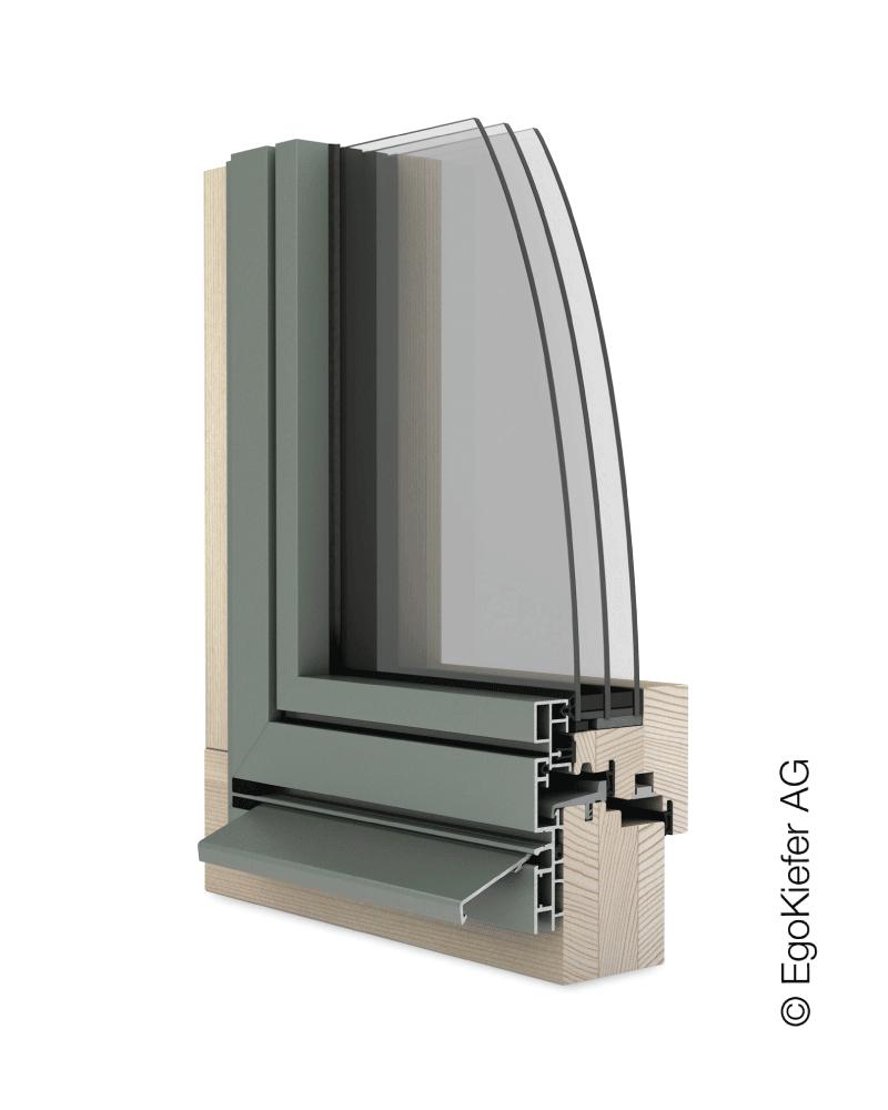 Holz/Aluminium Fenster EgoKiefer EgoAllstar flächenbündig