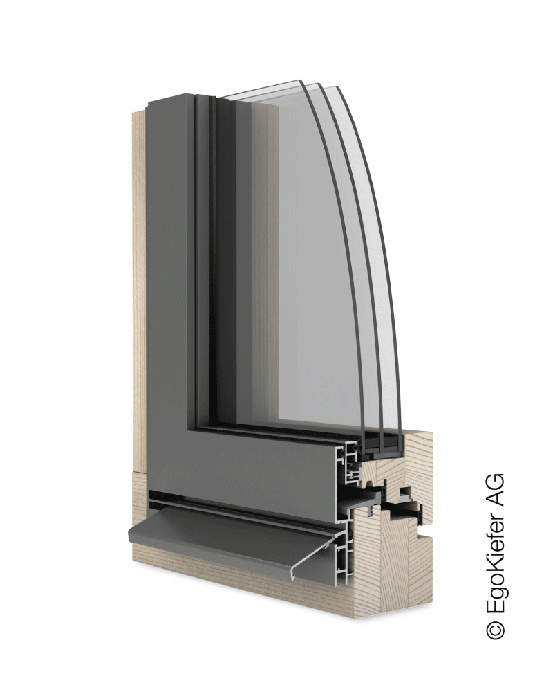 Holz/Aluminium Fenster EgoKiefer AG EgoSelection