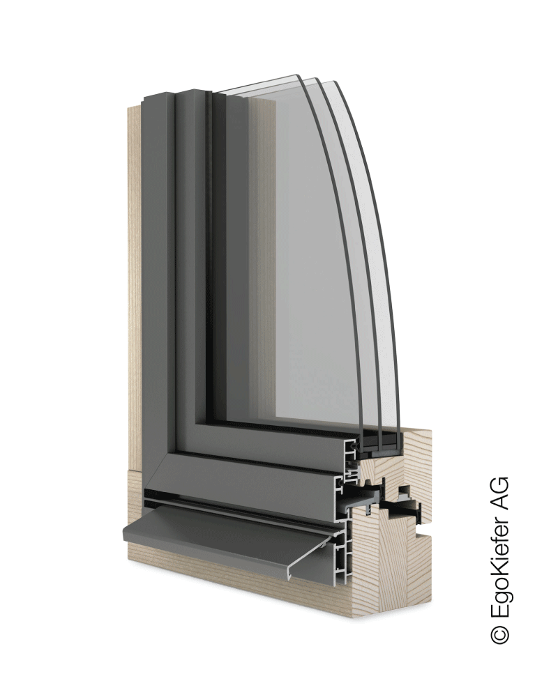 Holz/Aluminium Fenster EgoKiefer AG EgoSelection flächenversetzt