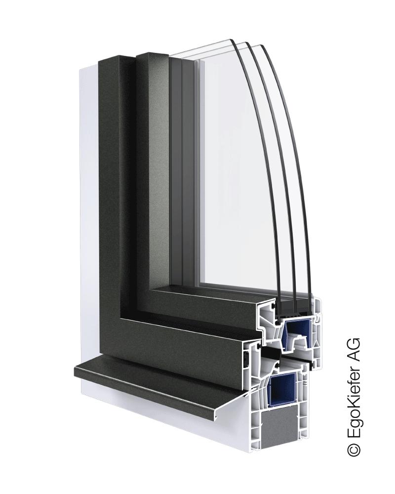 Kunststoff_Aluminium-Fenster EgoKiefer AG EgoAllround halbflNächenversetzt
